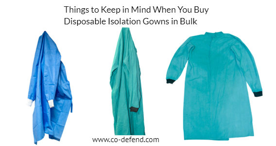 disposable isolation gowns in bulk.